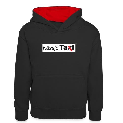 Nässjö taxi tryck - Kontrastluvtröja tonåring