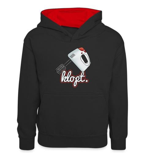 Klopt - Teenager contrast-hoodie