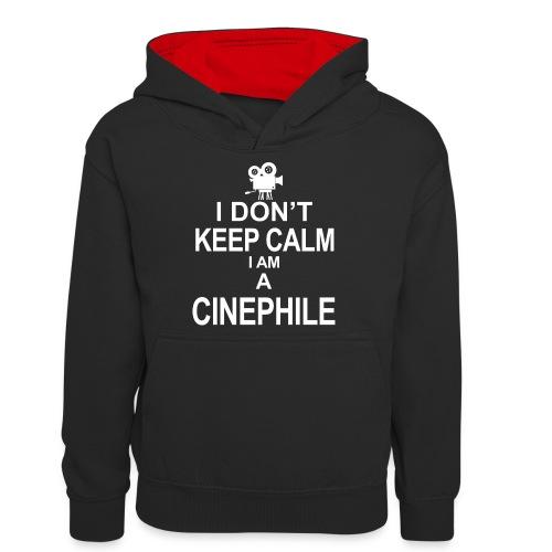 cinephile - cynamonowiec - Młodzieżowa bluza z kontrastowym kapturem