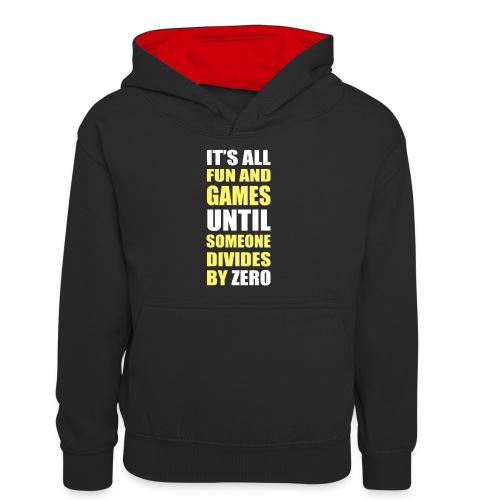 Divide by Zero - Młodzieżowa bluza z kontrastowym kapturem