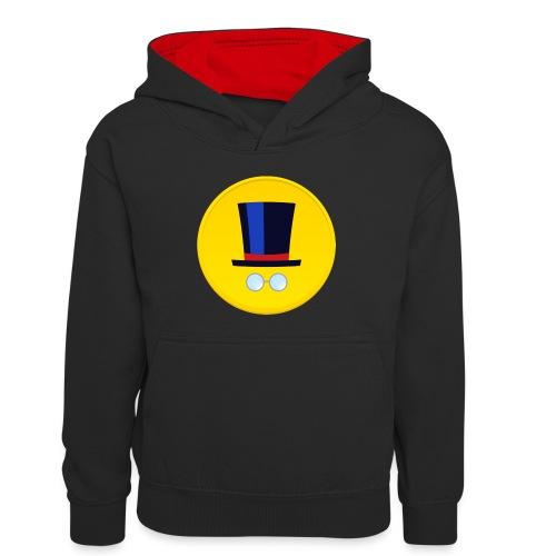 Logo - Felpa con cappuccio in contrasto cromatico per ragazzi