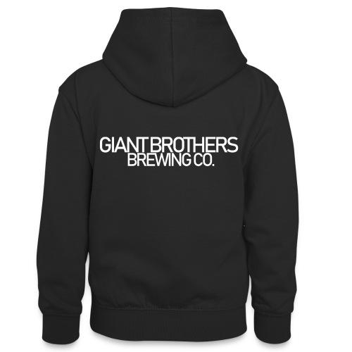 Giant Brothers Brewing co white - Kontrastluvtröja tonåring