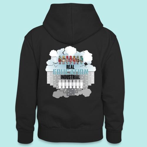 Real Education vs. Industrial Education - Sudadera con capucha para adolescentes