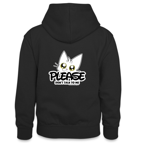 Please Don't Talk To Me - Teenager Contrast Hoodie