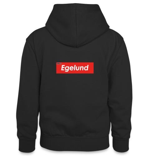 Albert Egelund Box Logo - Kontrasthoodie teenager