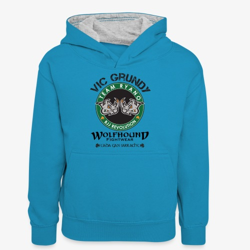 vic grundy back png - Teenager Contrast Hoodie
