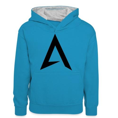 alpharock A logo - Teenager Contrast Hoodie
