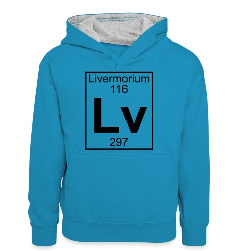 Livermorium (Lv) (element 116) - Teenager Contrast Hoodie