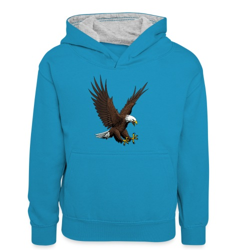 Adler sturzflug - Teenager Kontrast-Hoodie