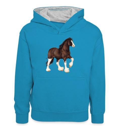 Shire Horse - Teenager Kontrast-Hoodie