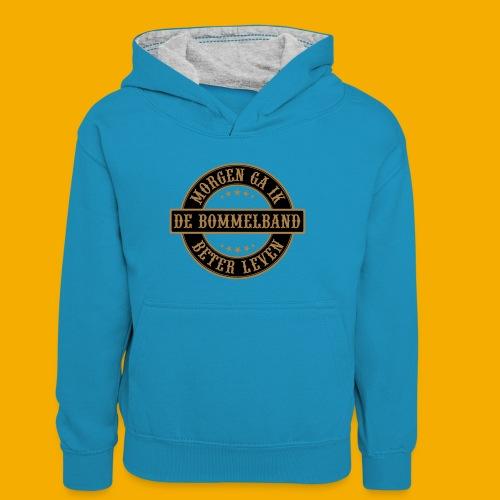 bb logo rond shirt - Teenager contrast-hoodie