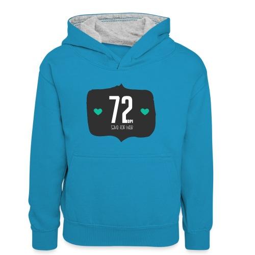 72DPI - Teenager contrast-hoodie