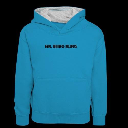 bling bling - Teenager Kontrast-Hoodie