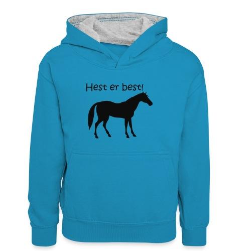 hest er best - Kontrast-hettegenser for tenåringer