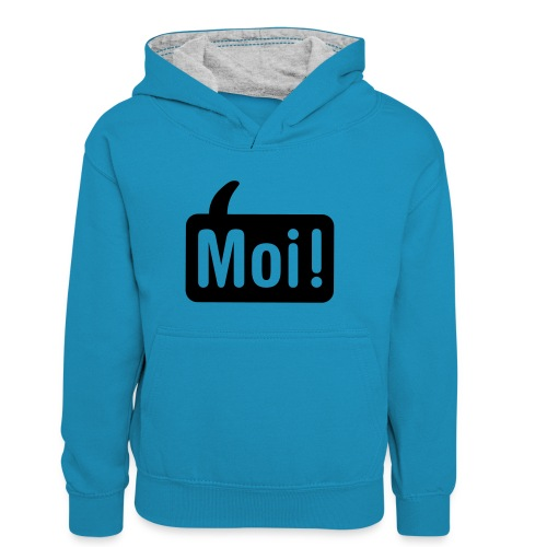 hoi shirt front - Teenager contrast-hoodie