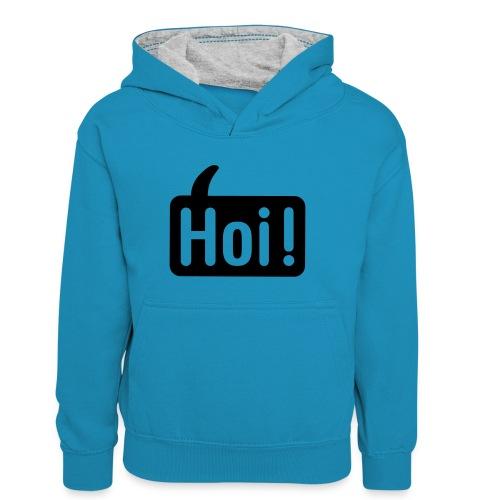 hoi front - Teenager contrast-hoodie