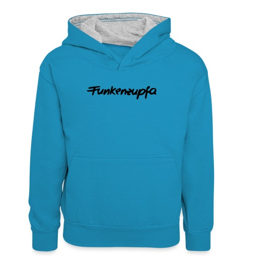 Funkenzupfa - Teenager Kontrast-Hoodie