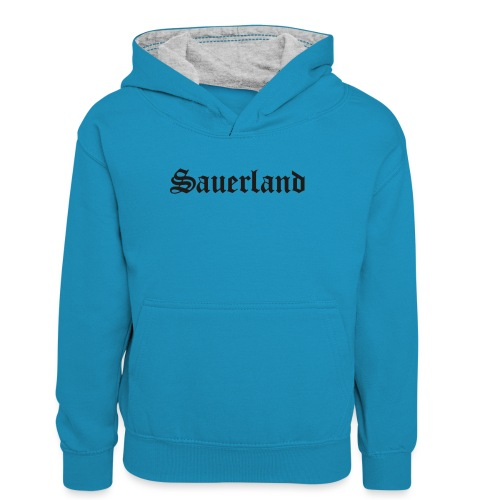 Sauerland - Teenager Kontrast-Hoodie