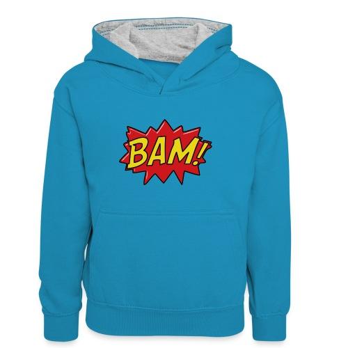 bamtamelijk - Teenager contrast-hoodie