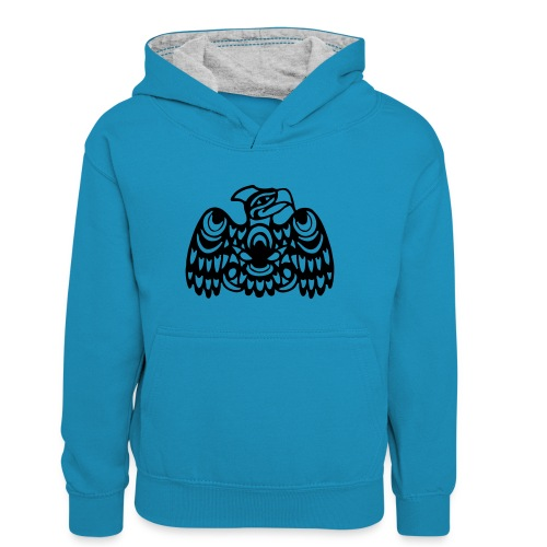 EAGLE WEST COAST SALISH (tribal collection) - Teenager Contrast Hoodie