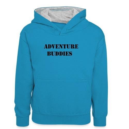 buddies - Teenager contrast-hoodie