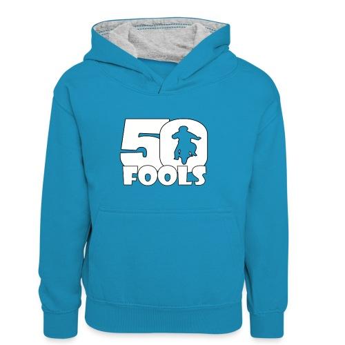50FOOLSLOGOSPREADSHIRT png - Teenager contrast-hoodie