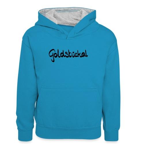 Goldstückal - Teenager Kontrast-Hoodie