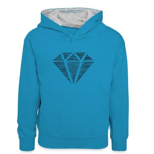 Diamante - Sudadera con capucha para adolescentes