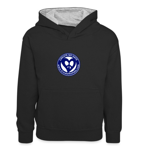 THIS IS THE BLUE CNH LOGO - Teenager Contrast Hoodie