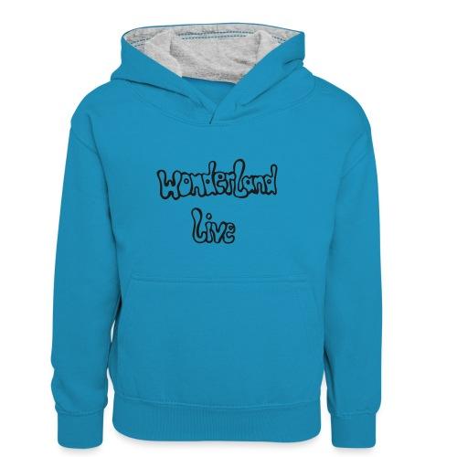 wonderland live - Teenager Kontrast-Hoodie