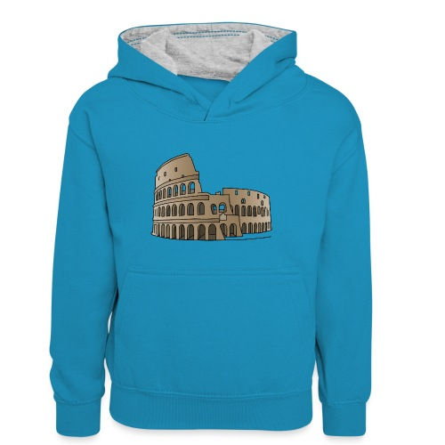 Kolosseum in Rom c - Teenager Kontrast-Hoodie