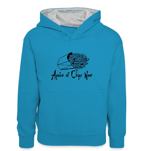 A Poke of Chips Now - Teenager Contrast Hoodie