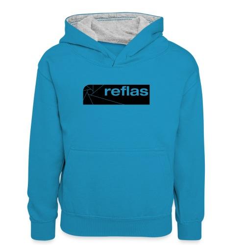 Reflas Clothing Black/Gray - Felpa con cappuccio in contrasto cromatico per ragazzi