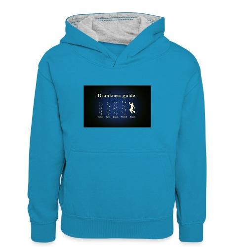 DRUNK - Teenager contrast-hoodie