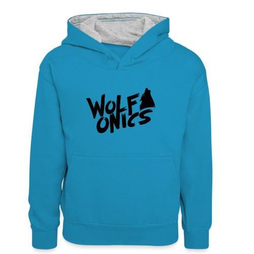 Wolfonics - Teenager Kontrast-Hoodie
