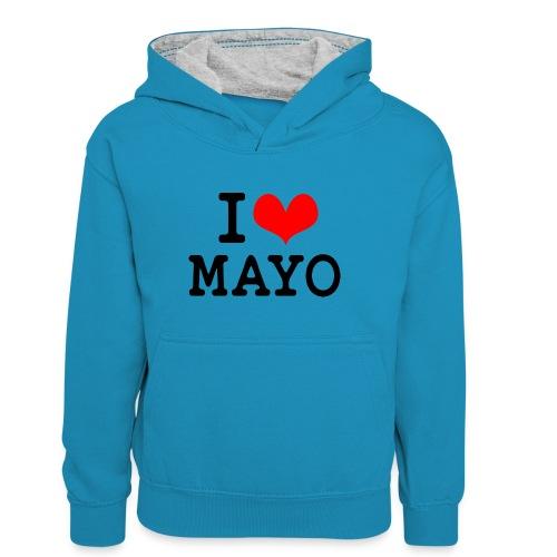 I Love Mayo - Teenager Contrast Hoodie