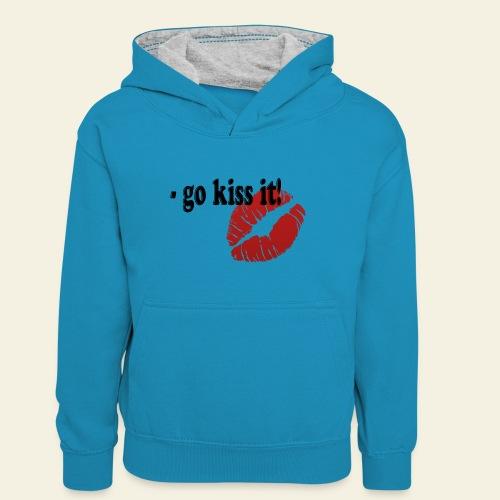 go kiss it - Kontrasthoodie teenager