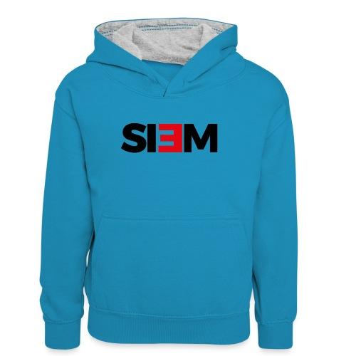 siem_zwart - Teenager contrast-hoodie