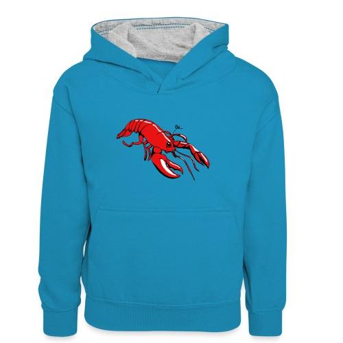 Lobster - Teenager Contrast Hoodie