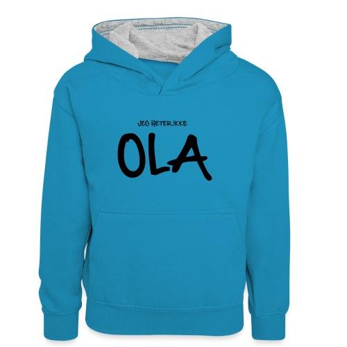 Jeg heter ikke Ola (fra Det norske plagg) - Kontrast-hettegenser for tenåringer