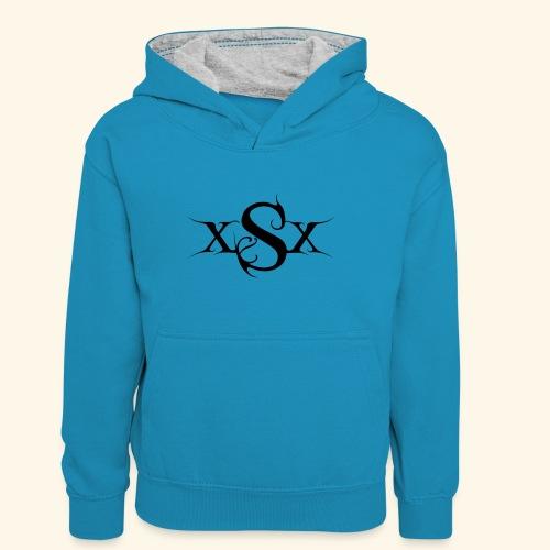 SynapsEyes Logo mittel - Teenager Kontrast-Hoodie