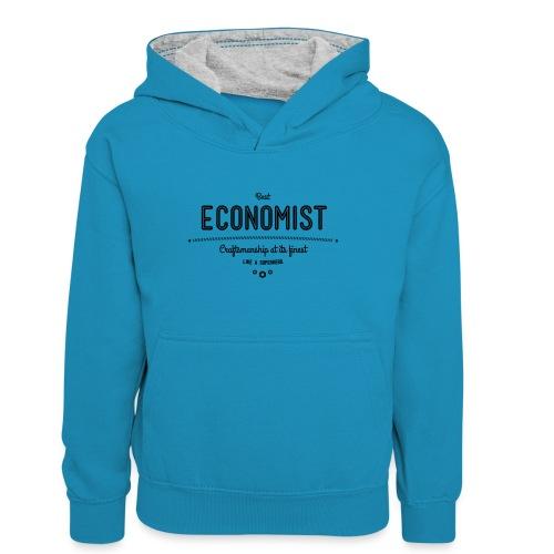 Bester Ökonom - wie ein Superheld - Teenager Kontrast-Hoodie