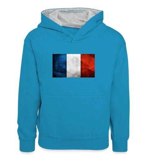 France Flag - Teenager Contrast Hoodie