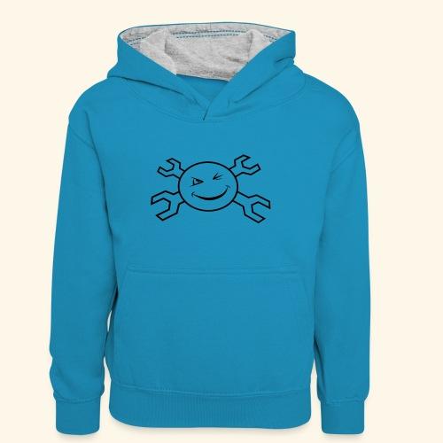 logo_atp_black - Teenager Contrast Hoodie