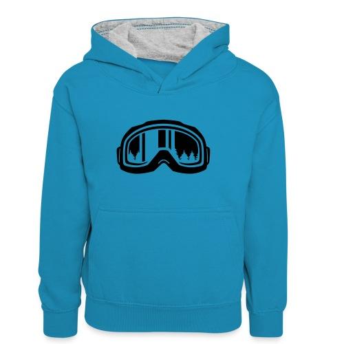 snowboard - Teenager contrast-hoodie