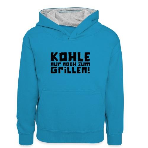 Kohle nur noch zum Grillen - Logo - Teenager Kontrast-Hoodie