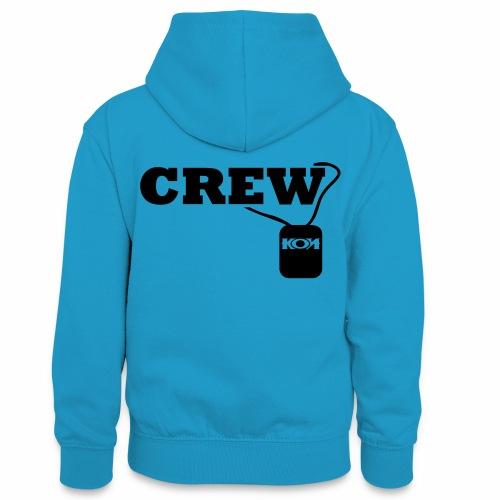 KON - Crew - Teenager Kontrast-Hoodie