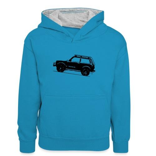 Lada Niva 2121 Russin 4x4 - Teenager Kontrast-Hoodie
