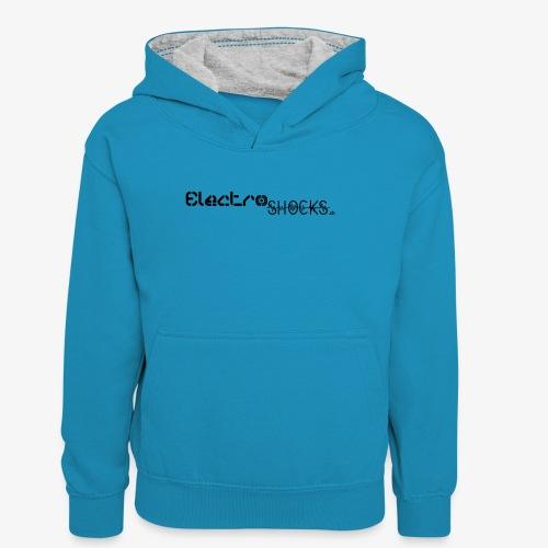 ElectroShocks BW siteweb - Sweat à capuche contrasté Ado