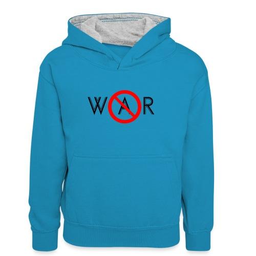 TIAN GREEN - No War - Teenager Kontrast-Hoodie